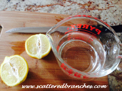 one magical lemon along with some water and a glass measuring cup will deep clean your microwave sink disposal